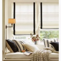 Pottery Barn window seat and Roman Shades Knock Off
