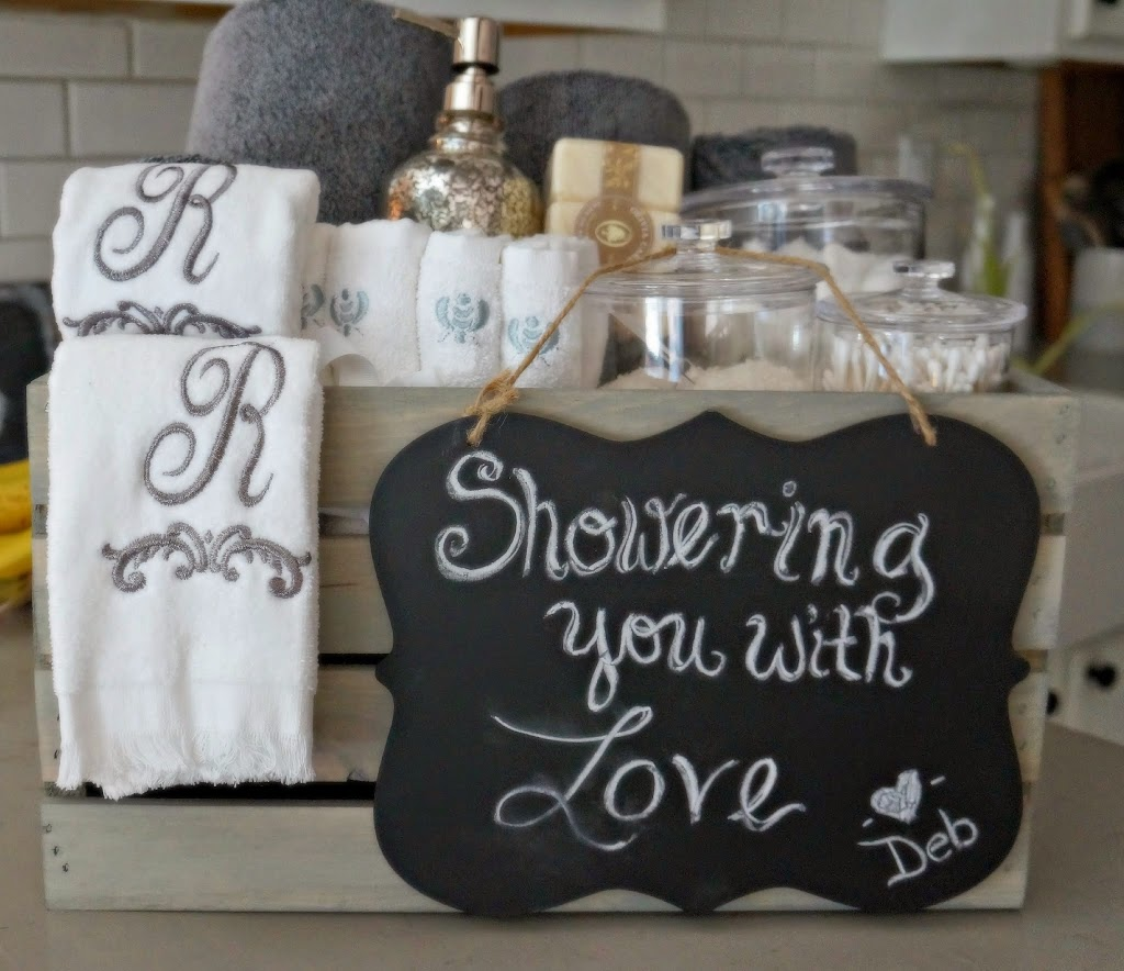 bridal shower gifts for her bathroom grey washed wood crate bridal shower gift 31028