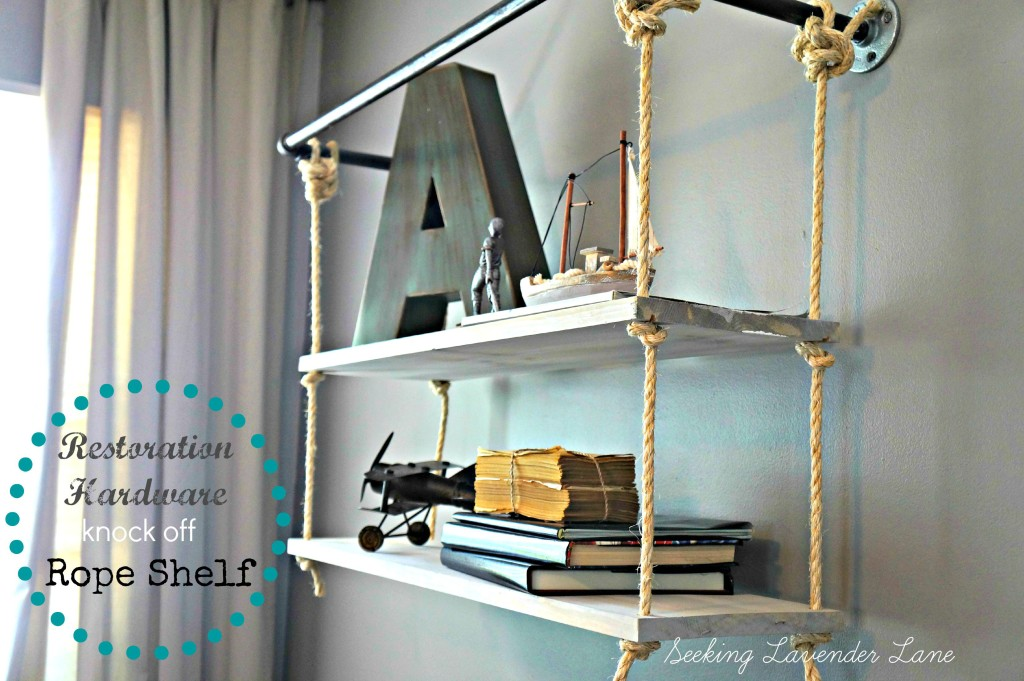 Restoration Hardware Knock off Rope Shelf