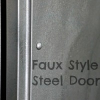 Faux Steel Closet Door Makeover