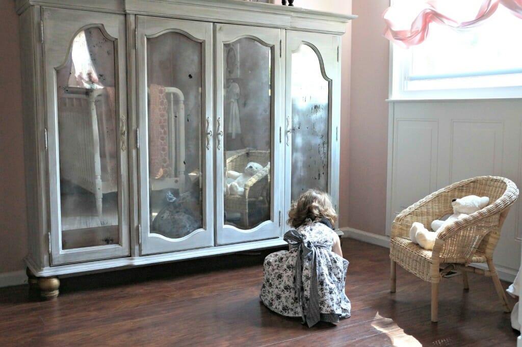 DIY Little Girl Armoire