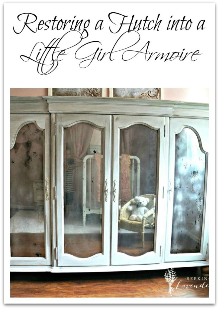 Restoring a Hutch into a Little Girl Armoire
