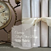 Covering Thrift Store Books with Fabric