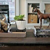 Cozy Equestrian Style Fall Coffee Table Decor