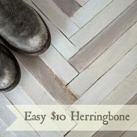 Herringbone DIY for $10