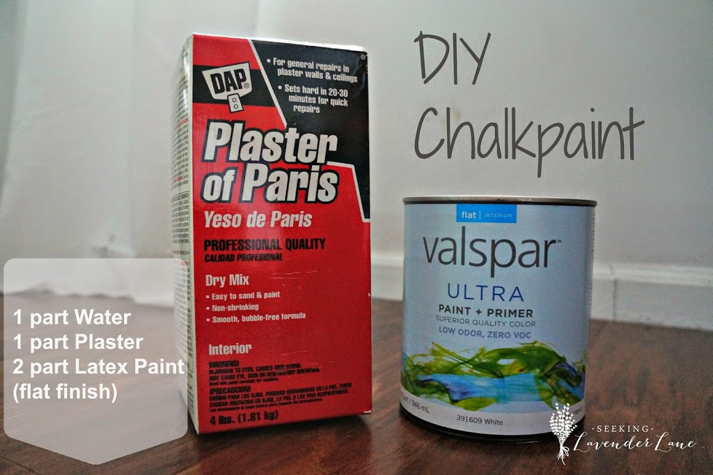 Plaster Of Paris Chalk Paint Mix