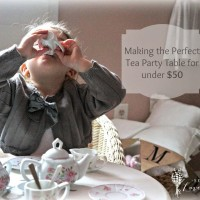 How to Make a Tea Party Table for under $50