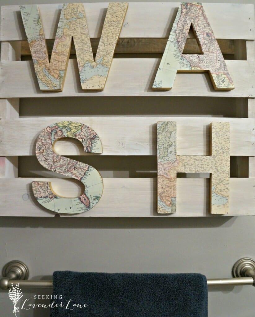DIY WASH Bathroom Sign