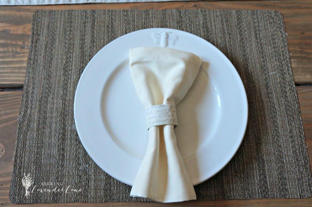 Linen Napkin and napkin ring