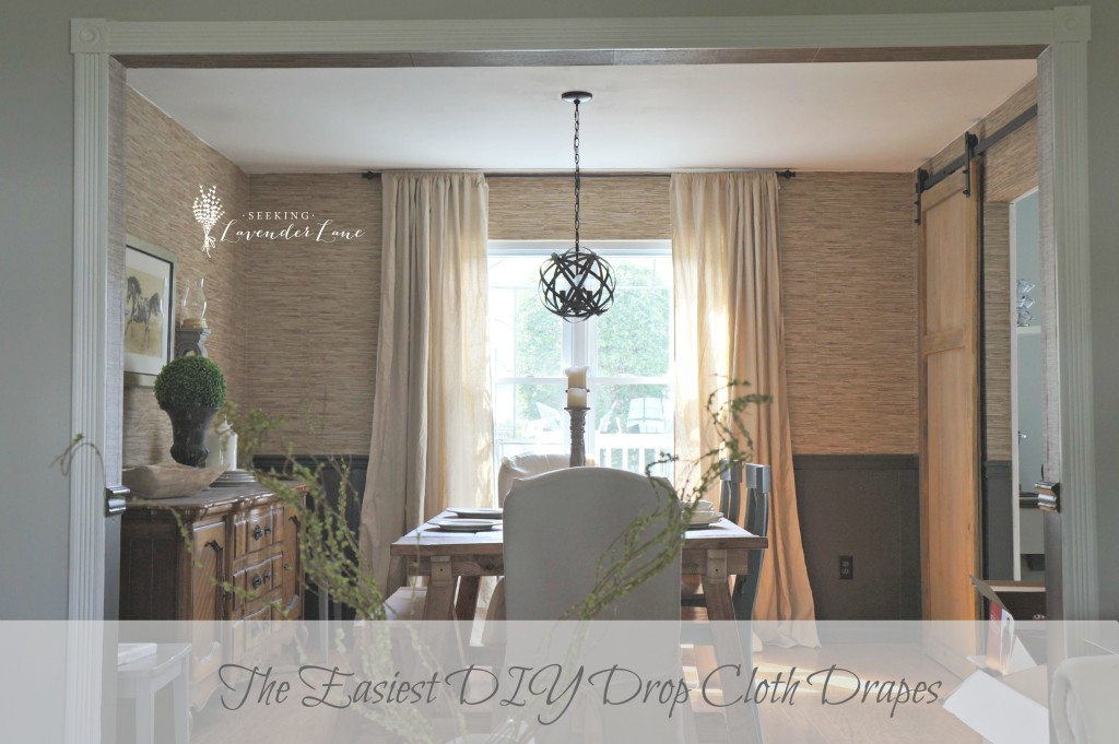 The Easiest DIY Drop Cloth Drapes