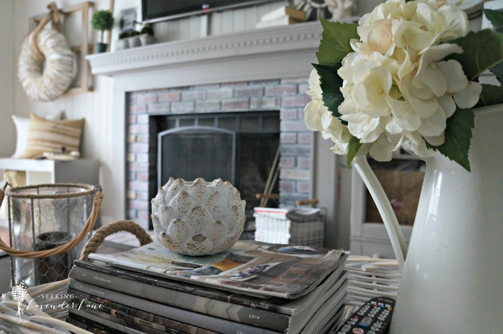 Coffee Table Vignette for Summer