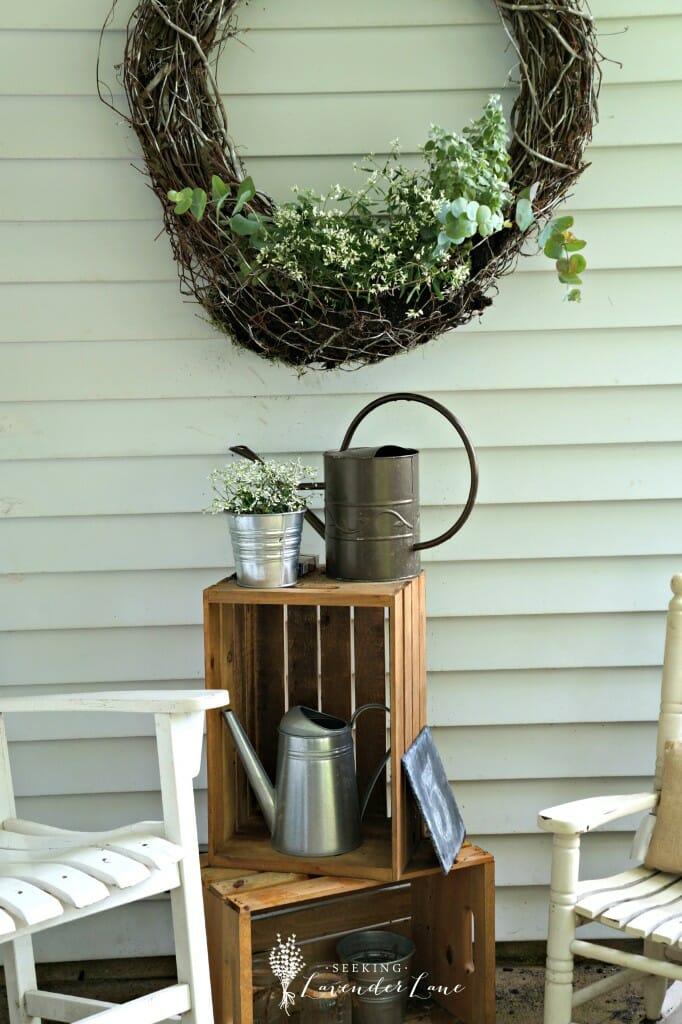 DIY Wicker Wreath Flower Holder