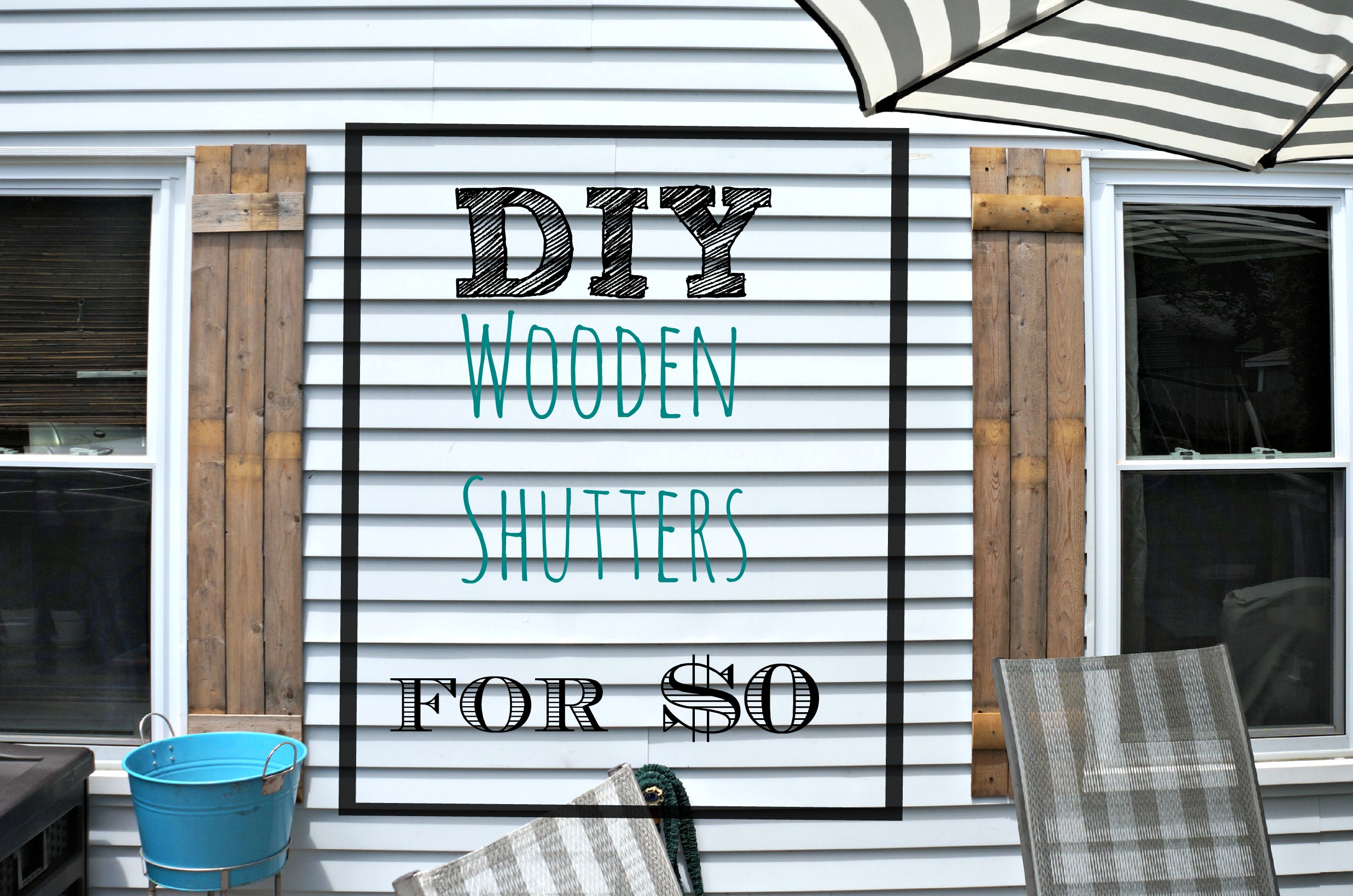 DIY Wooden Shutters Label