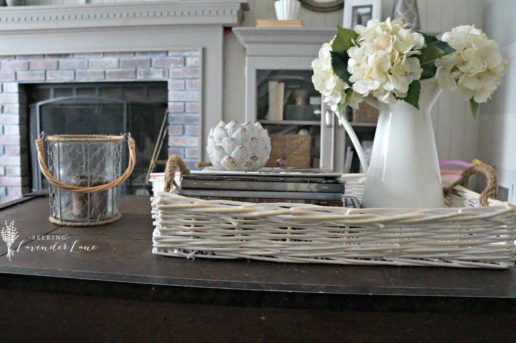Summer Rustic Vignette Coffee Table