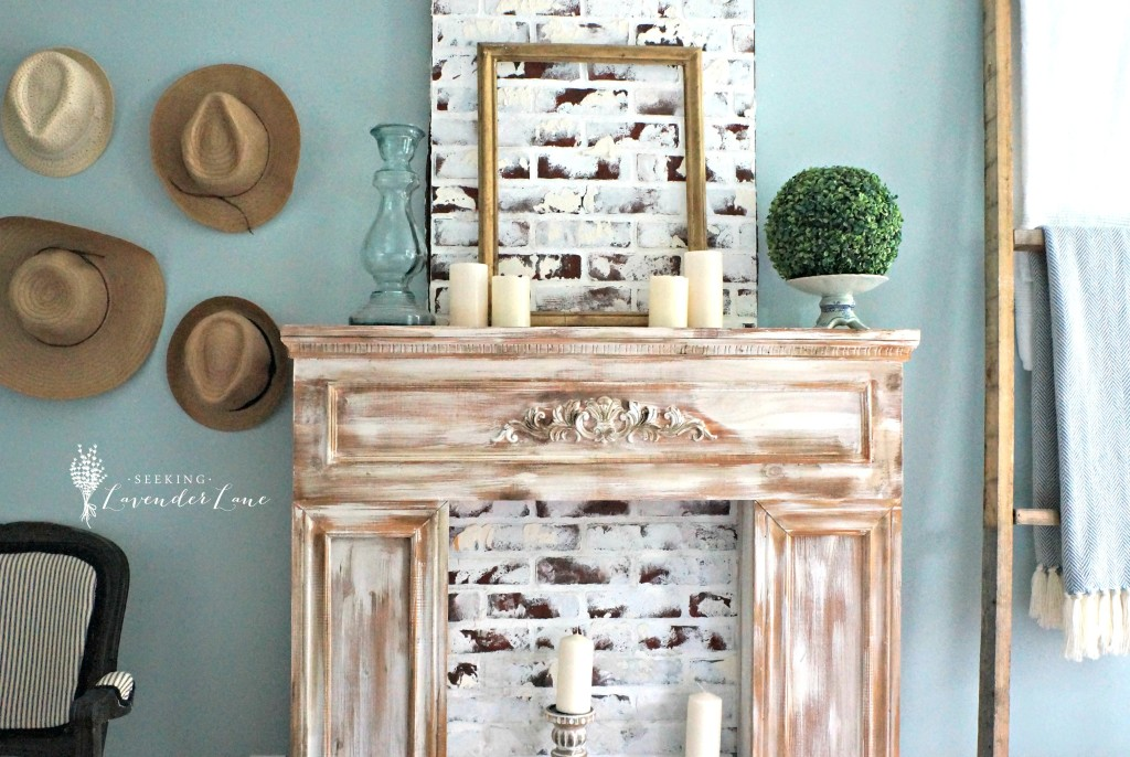 French Rustic Fireplace and Decor