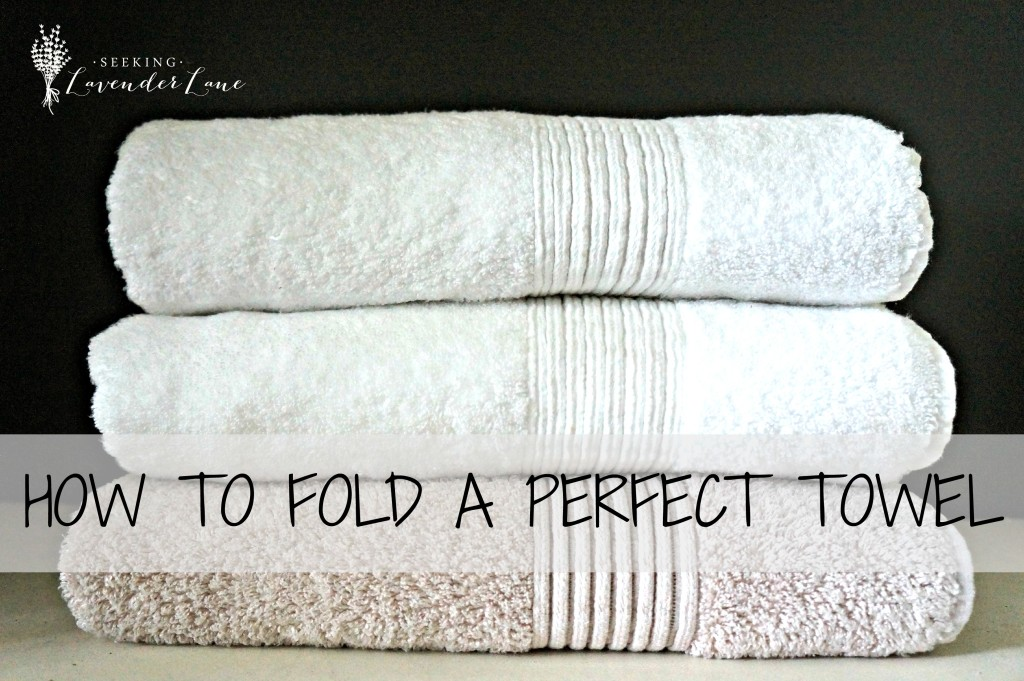 How to fold a perfect towel label