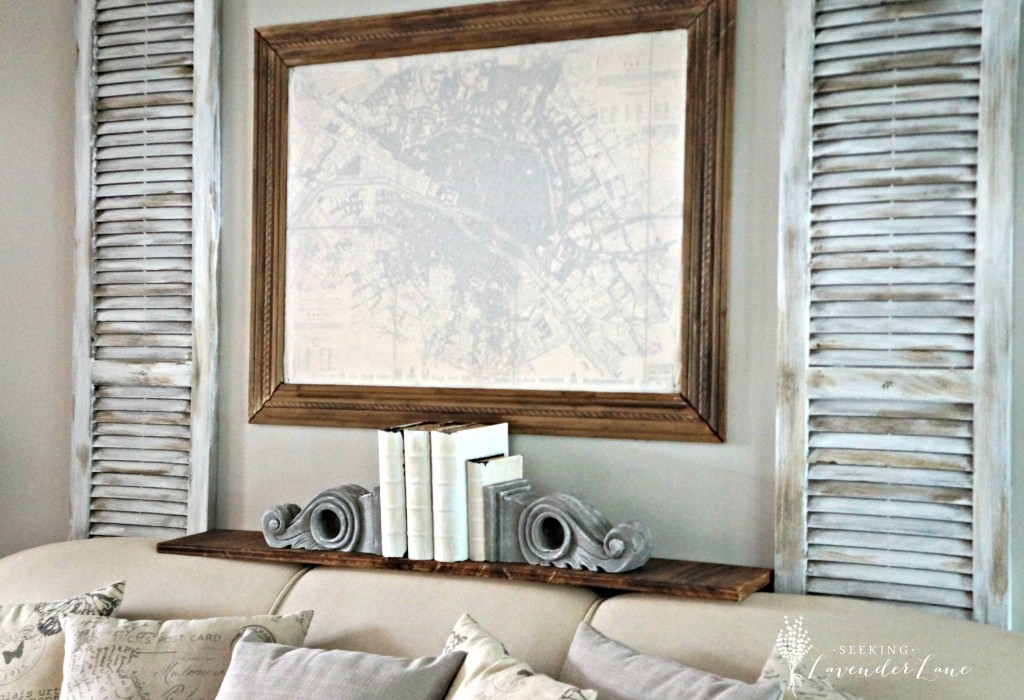 Adding Rustic French Touches to the living room