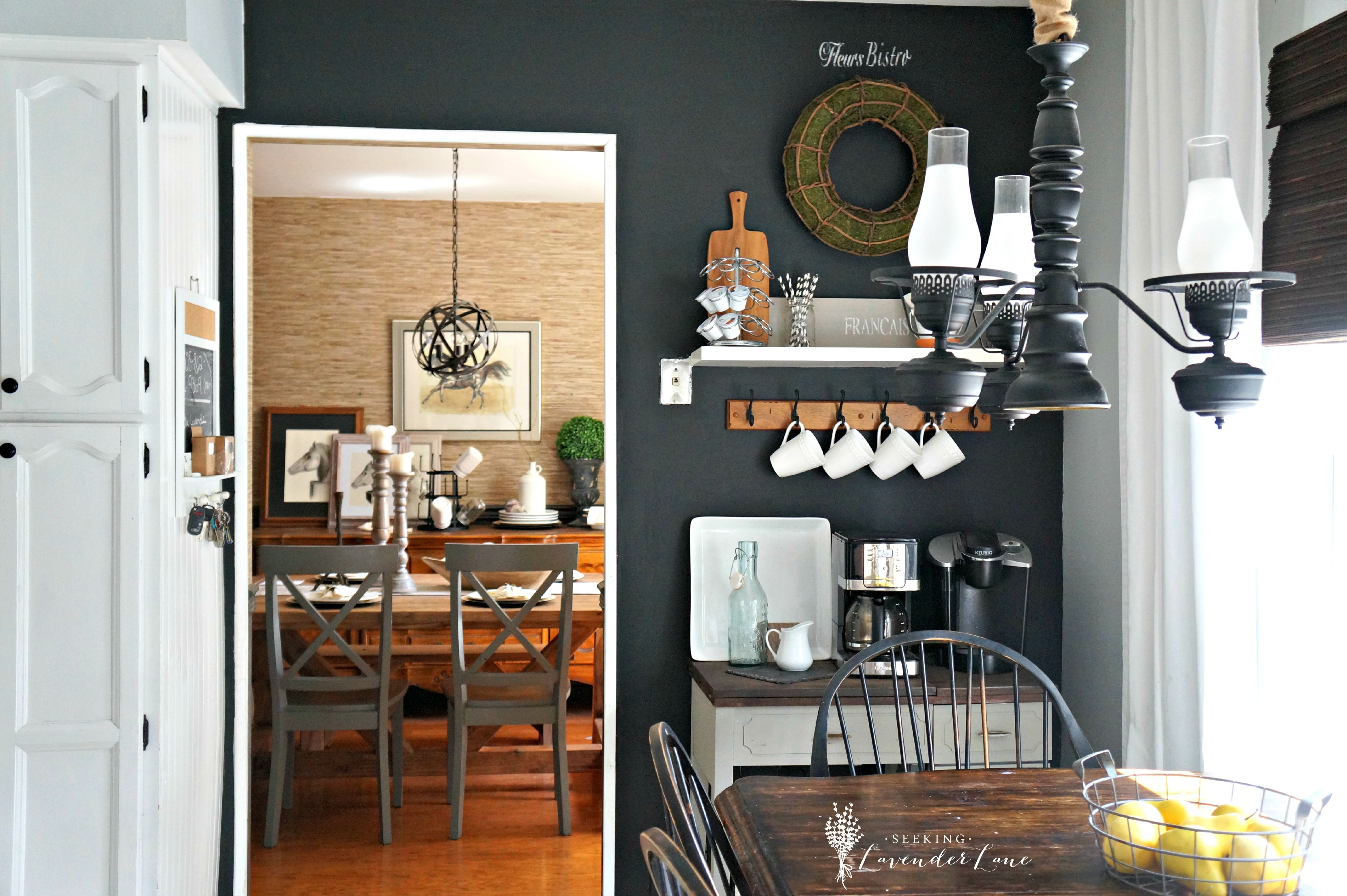Beau Chalkboard Wall Kitchen