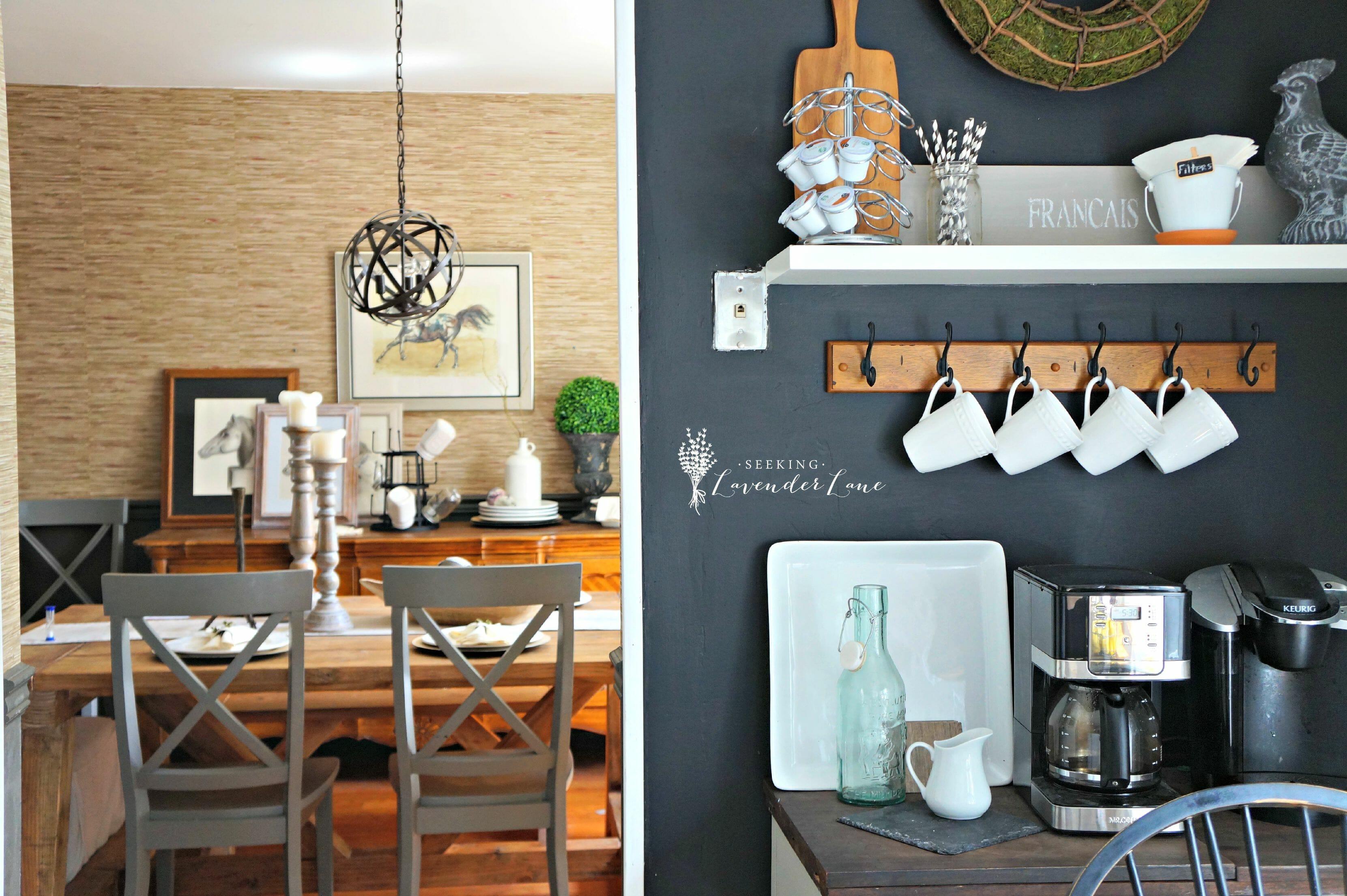 Adding Drama With A Chalkboard Wall Rh Seekinglavenderlane Com Chalkboard  Accent Wall In Kitchen How To