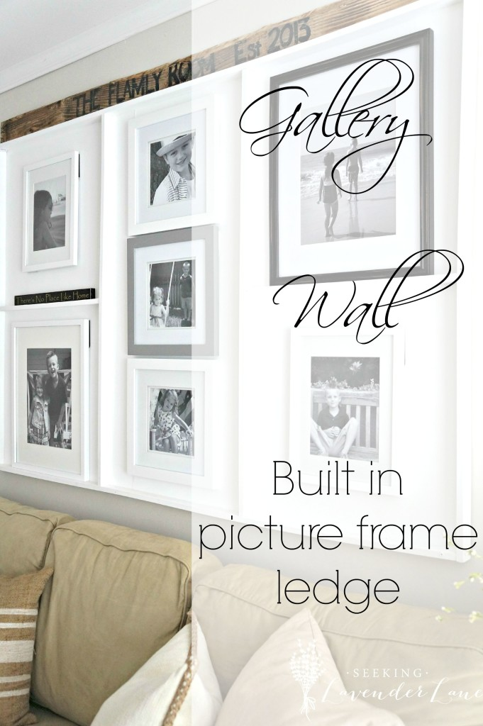 Gallery Wall Built in Picture Frame Ledge