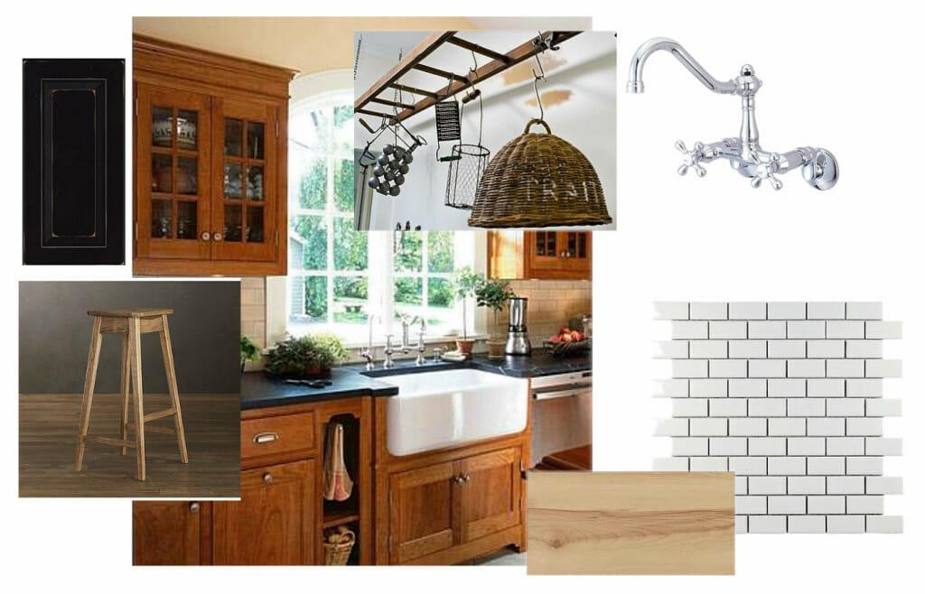 OB-Black and Wood Rustic Kitchen