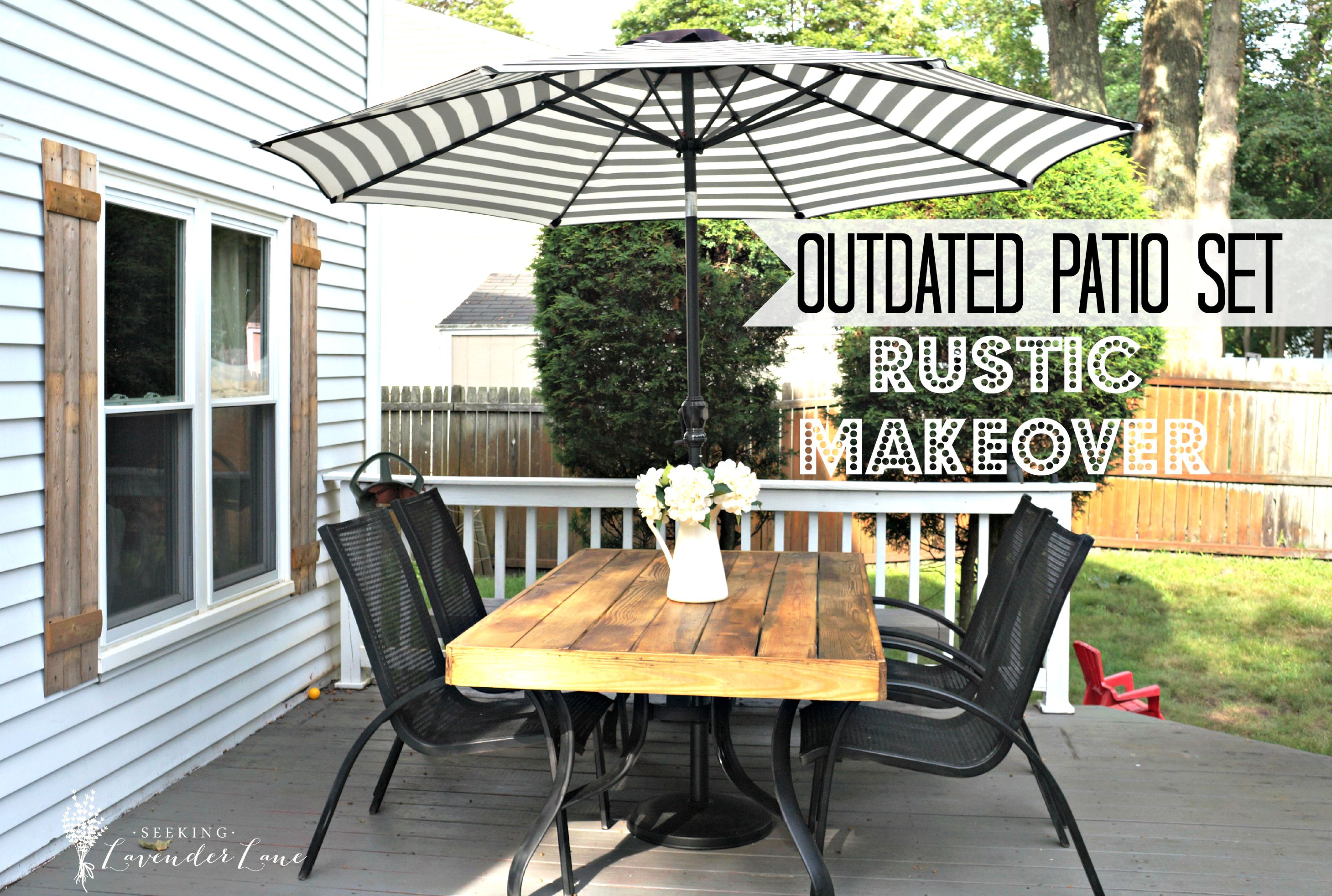 Home Decor How To Update An Outdated Outdoor Furniture Create A French Rustic Cafe Setting In The Backyard Using Old