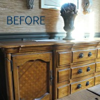 Buffet Makeover How To Make Existing Furniture Work in Your Home