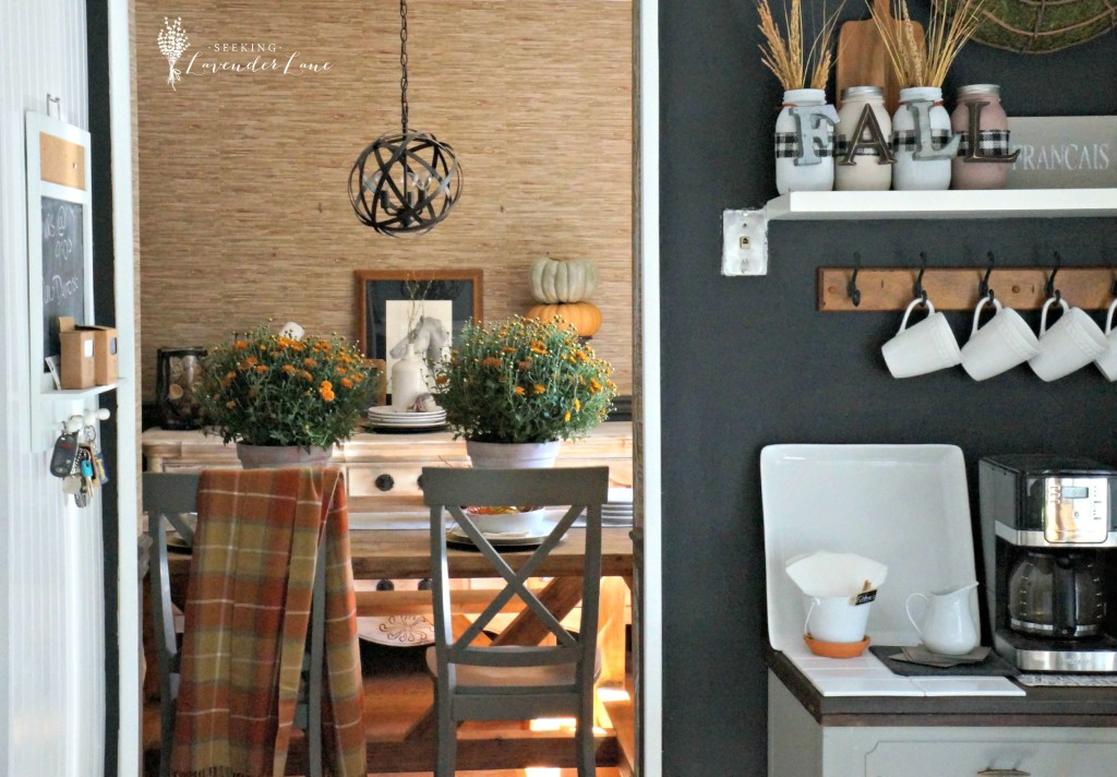 Coffee Nook and Dining Room Fall Display