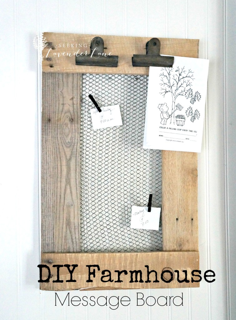 DIY Farmhouse Message Board 2