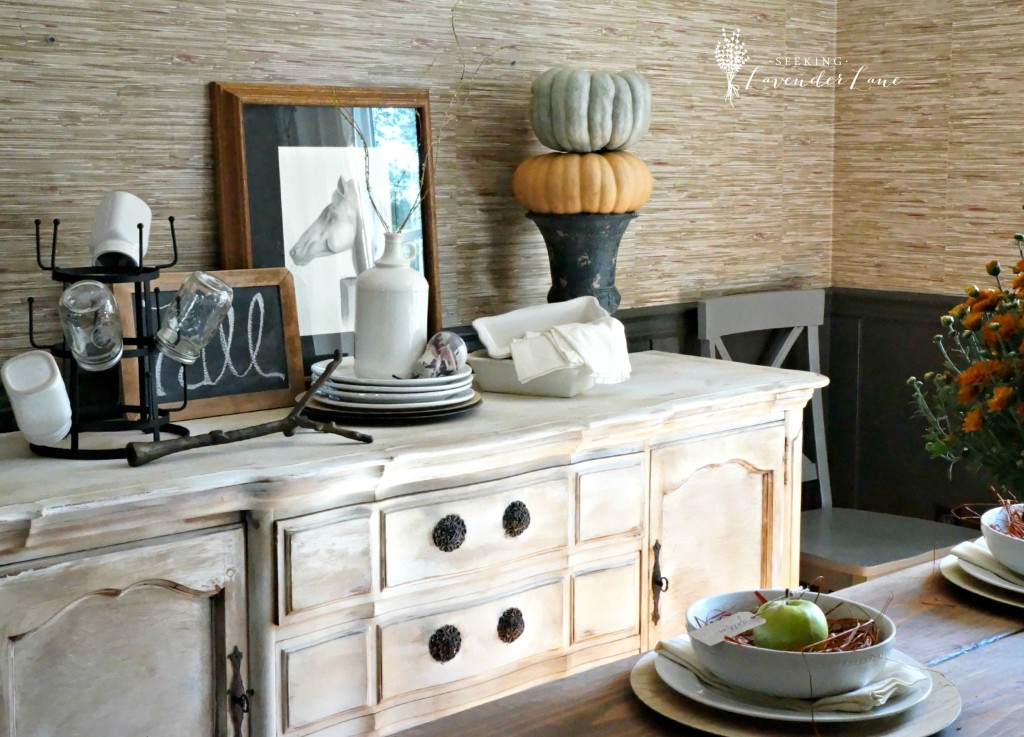 Sideboard Fall Decor