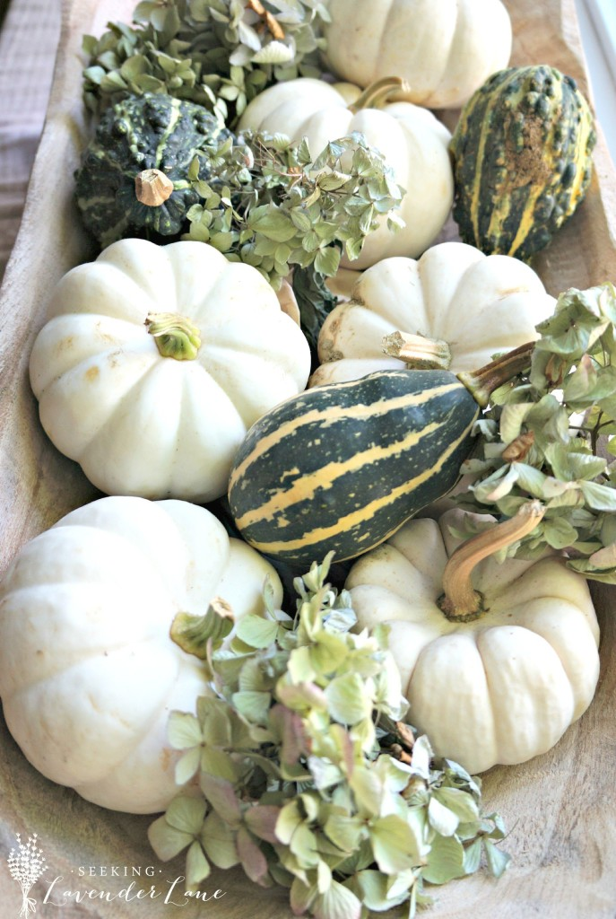 white pumpkins dough bowl
