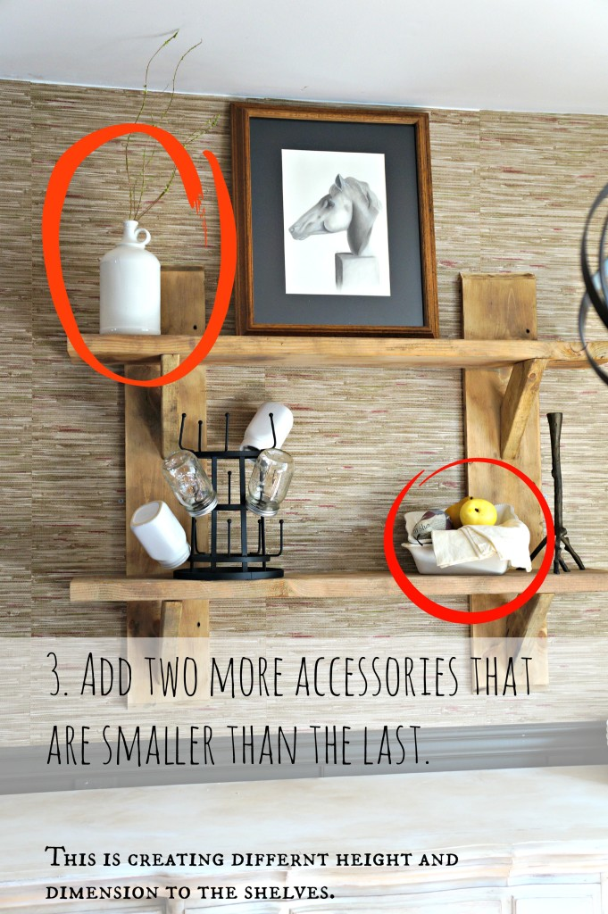 3. Add two more accessories that are smaller