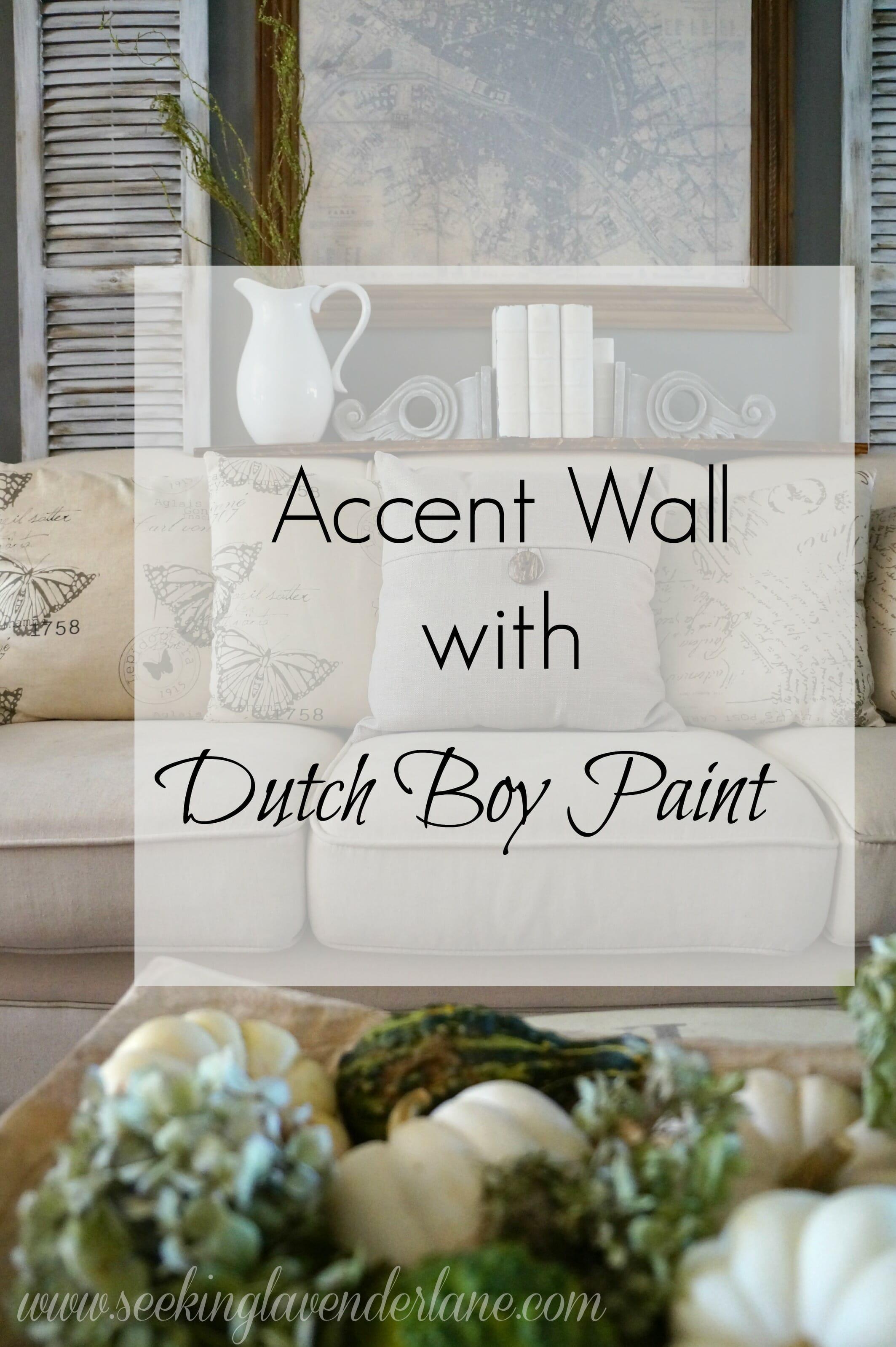 Dark Gray Accent Wall