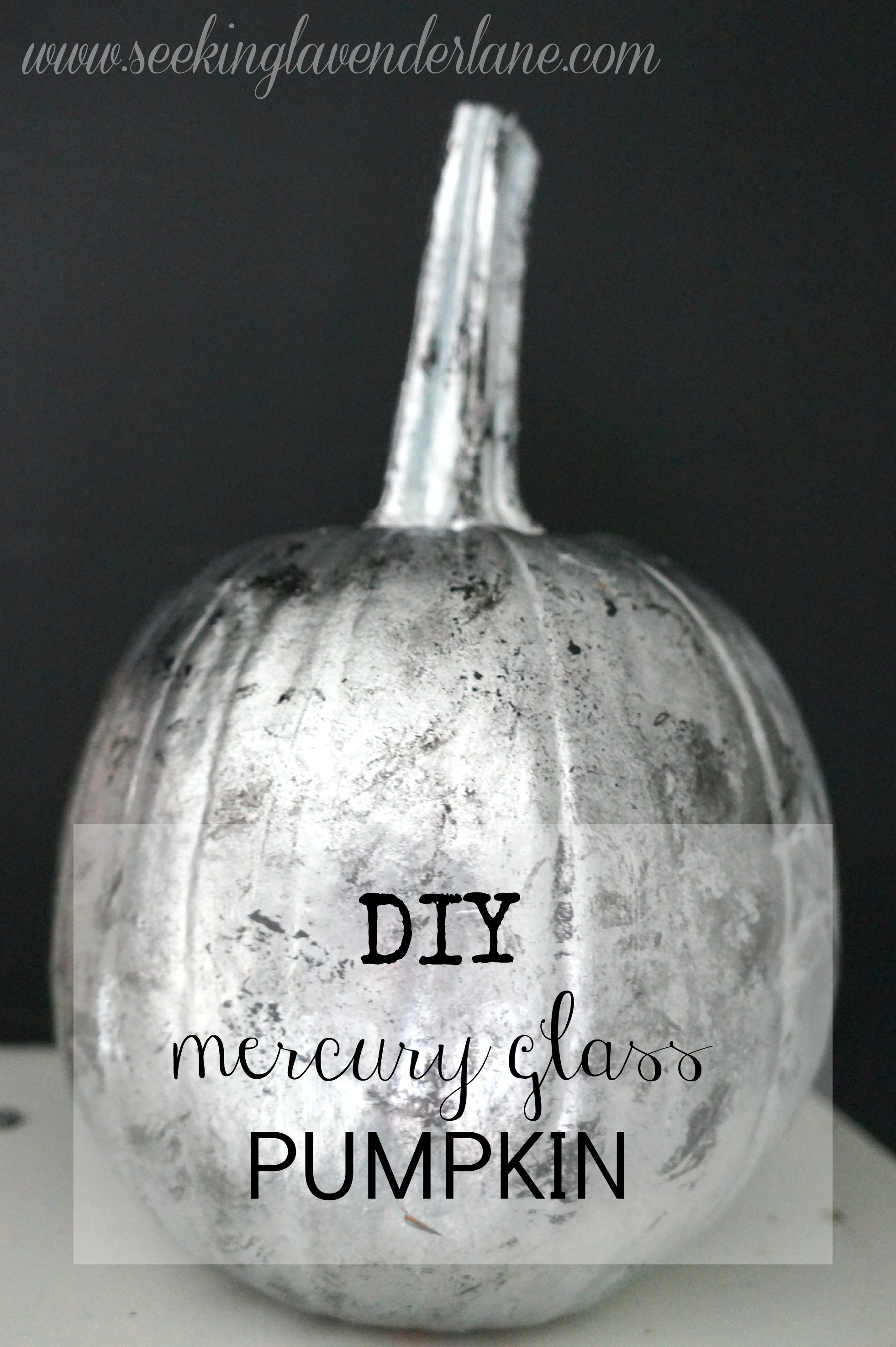 DIY Mercury Glass Pumpkin label
