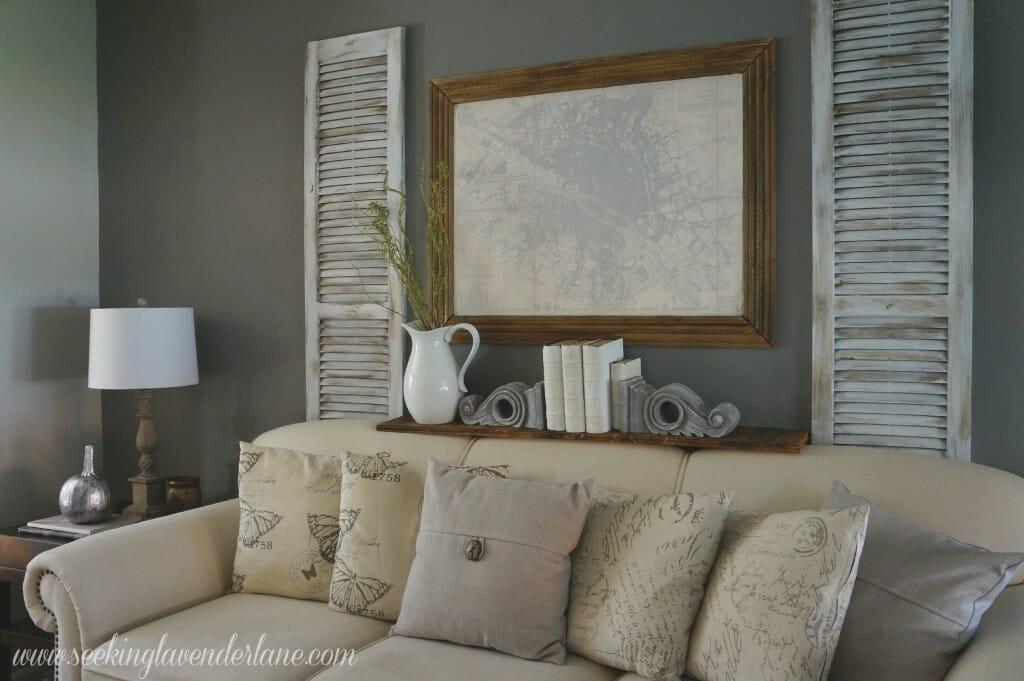 Dark Gray Living Room Wall