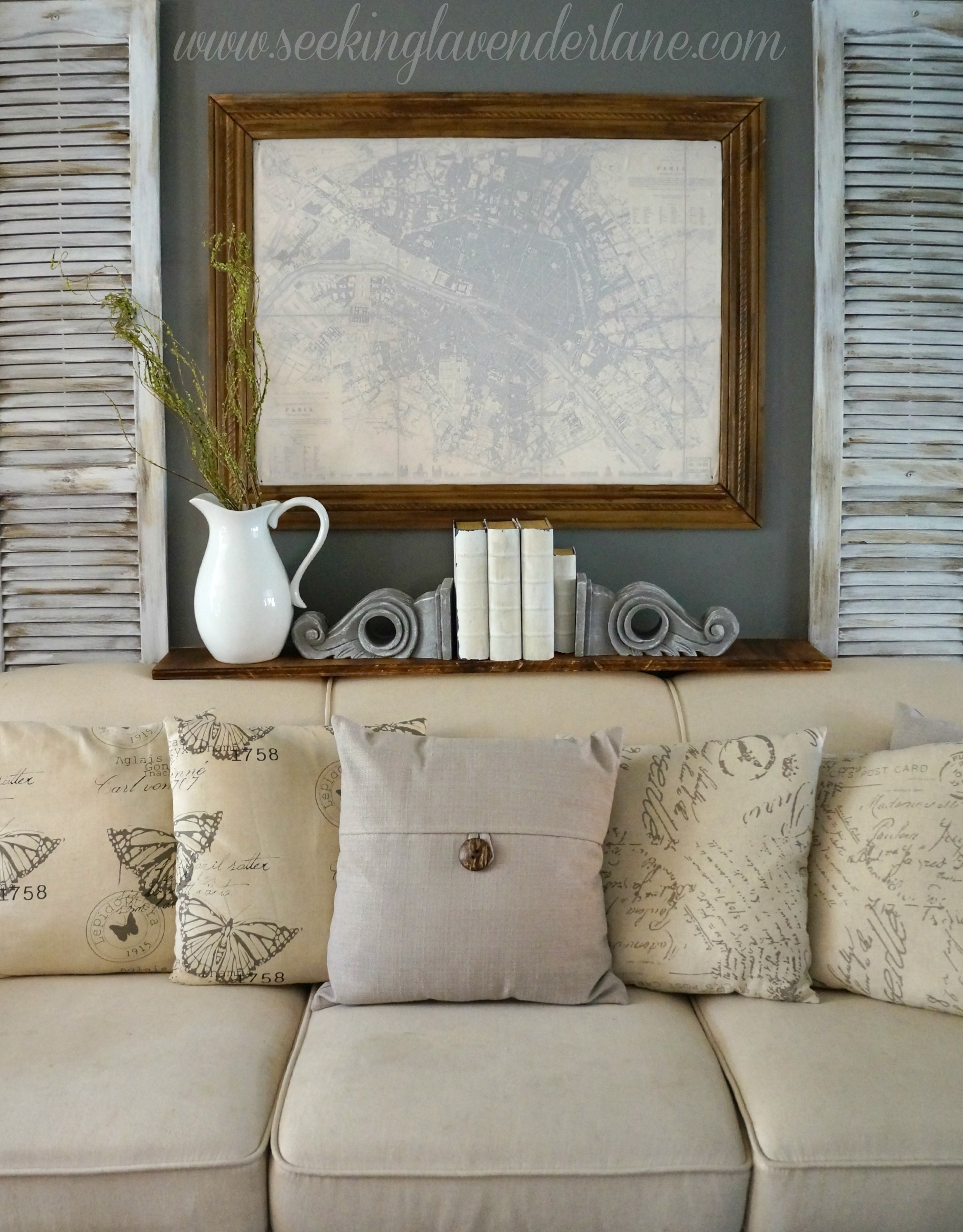 Gray Accent Wall In The Living Room