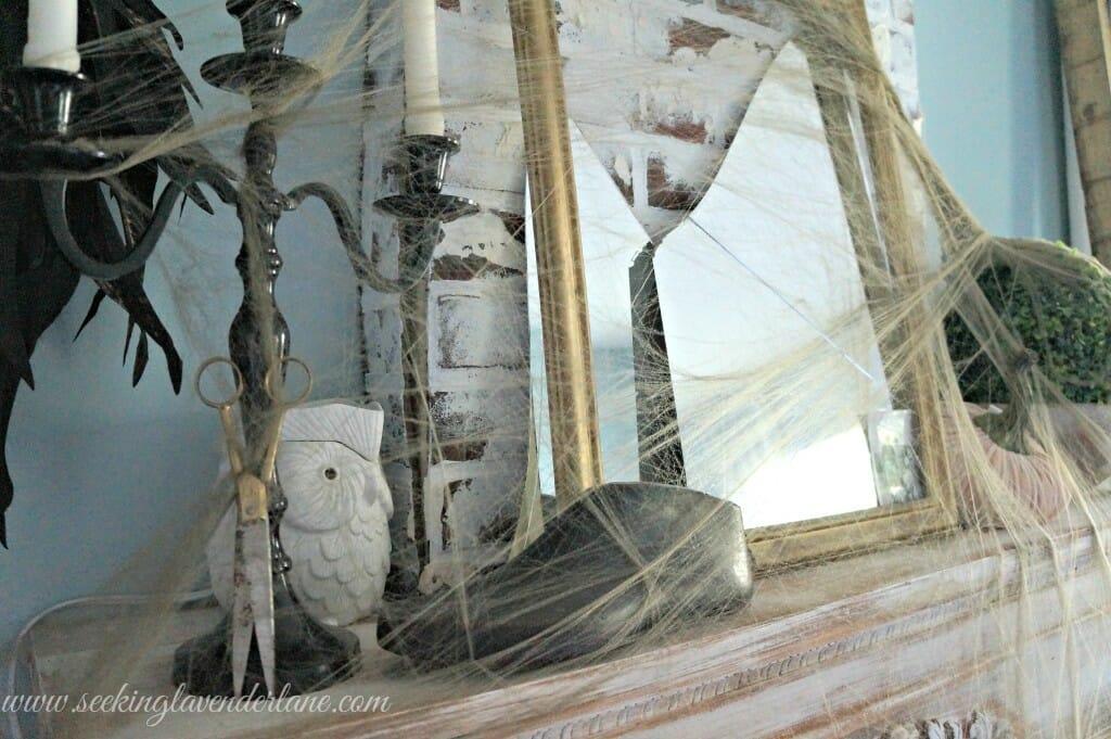 Vintage spooky mantel