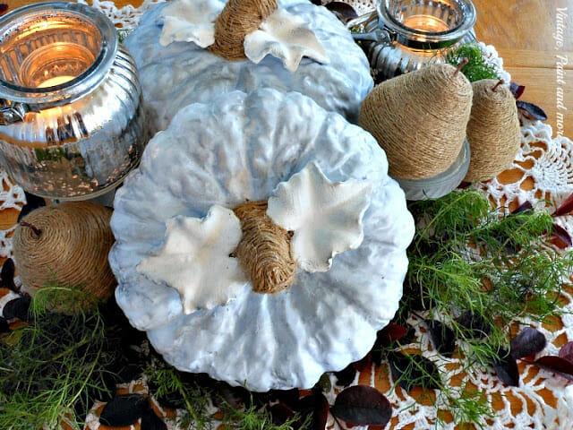 blue pumpkin centerpiece