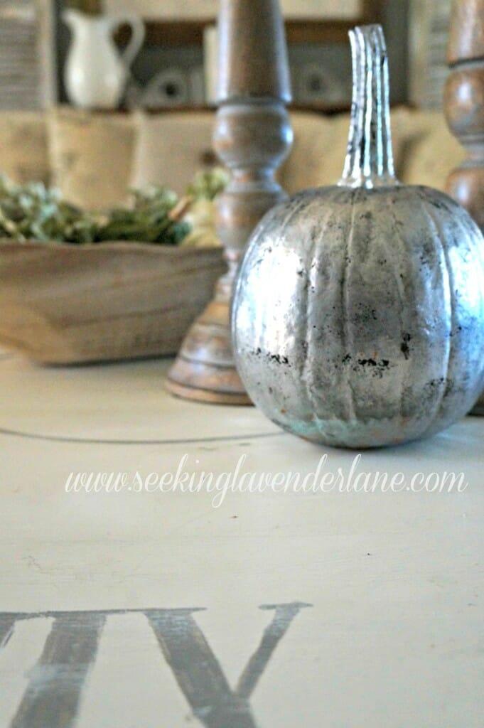 vintage glass pumpkin