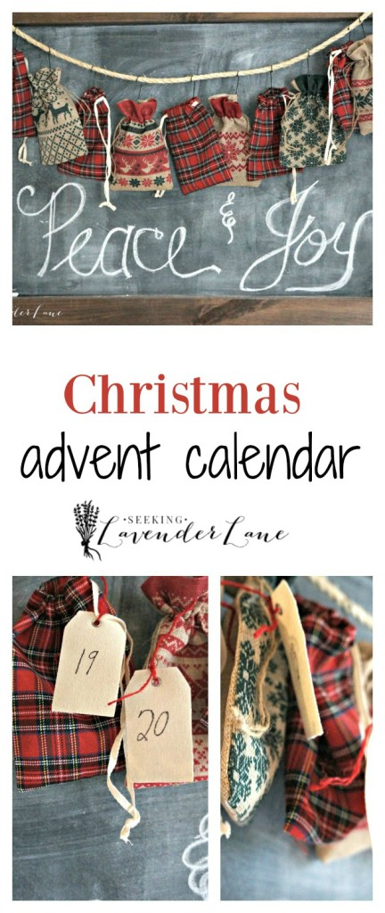 Advent calendar collage
