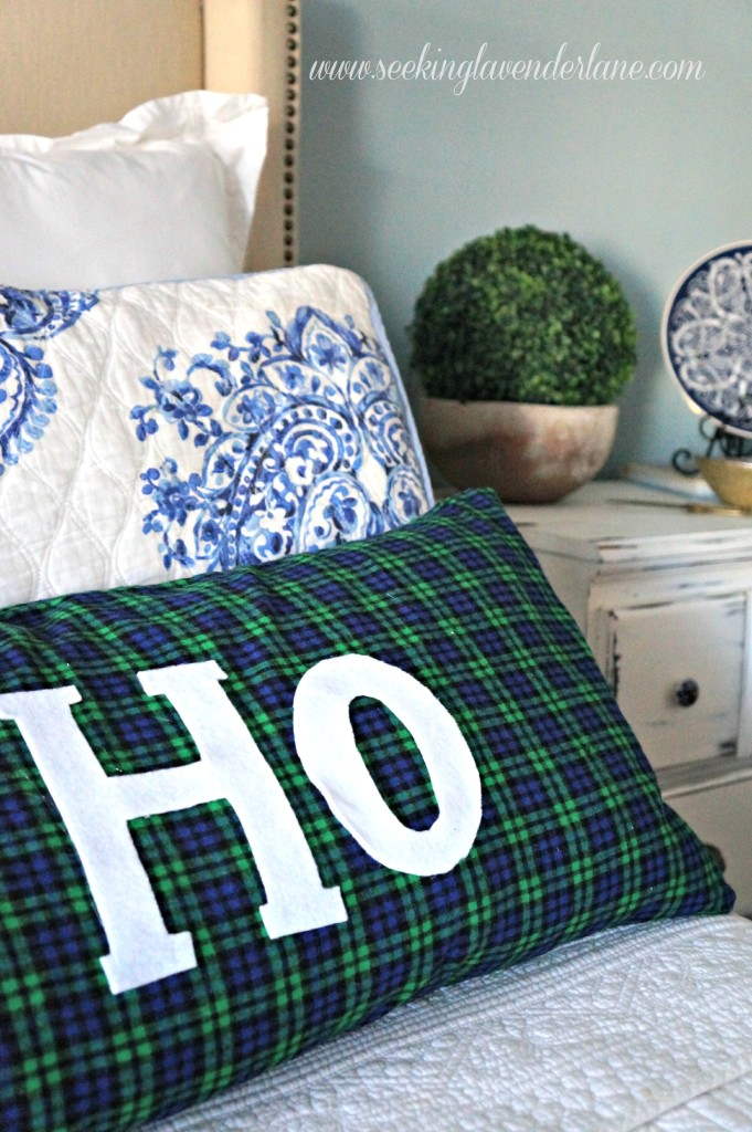 Christmas DIY plaid pillow