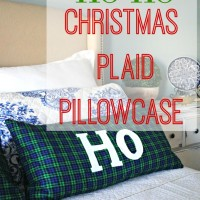 Easy Plaid Christmas Pillowcase