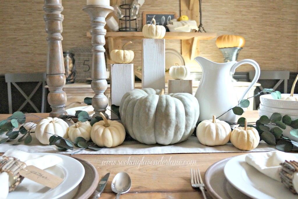 Thanksgiving Neutral Table Decor