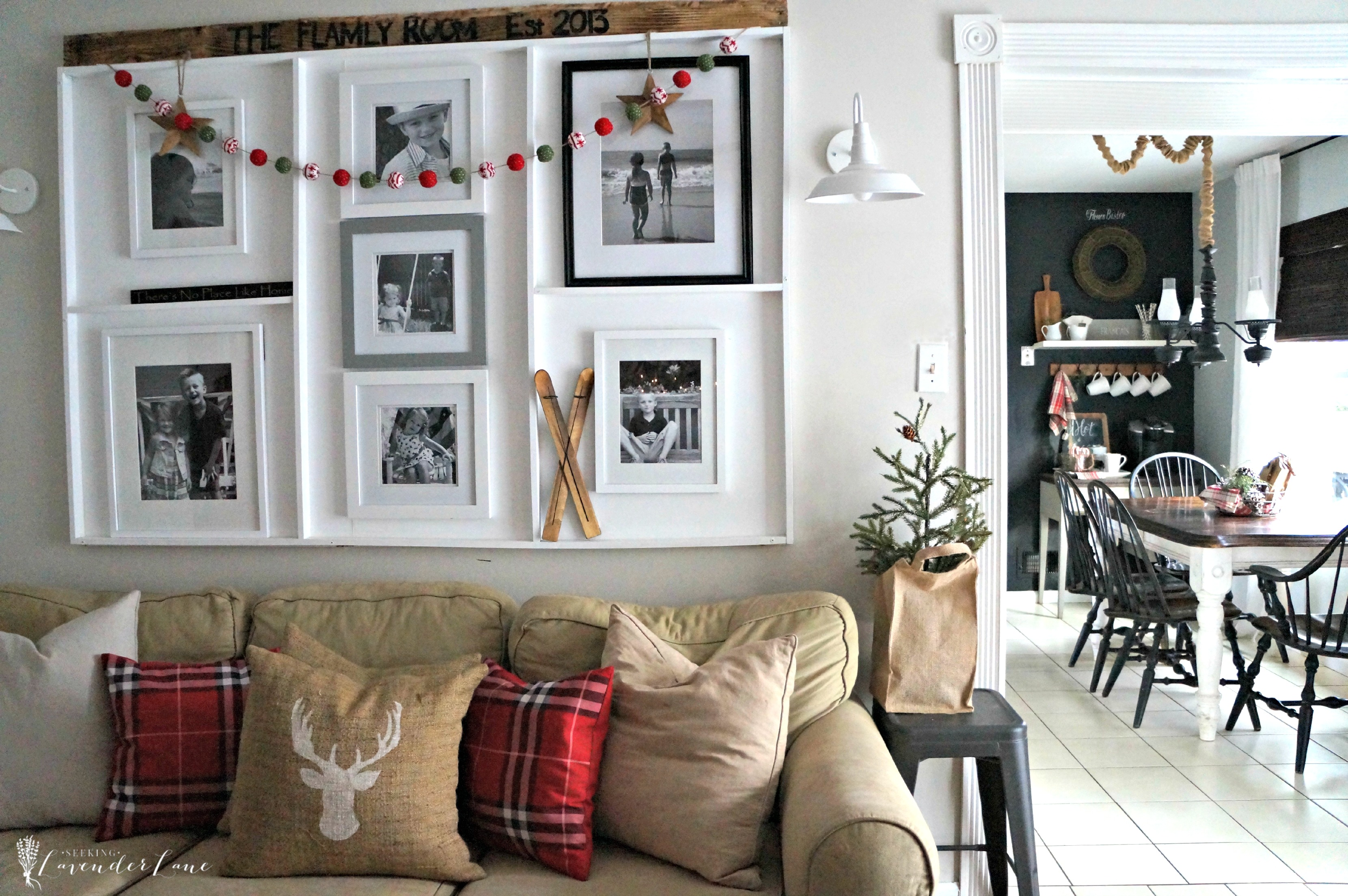 Farmhouse Christmas Home Tour with Seeking Lavender Lane Seeking