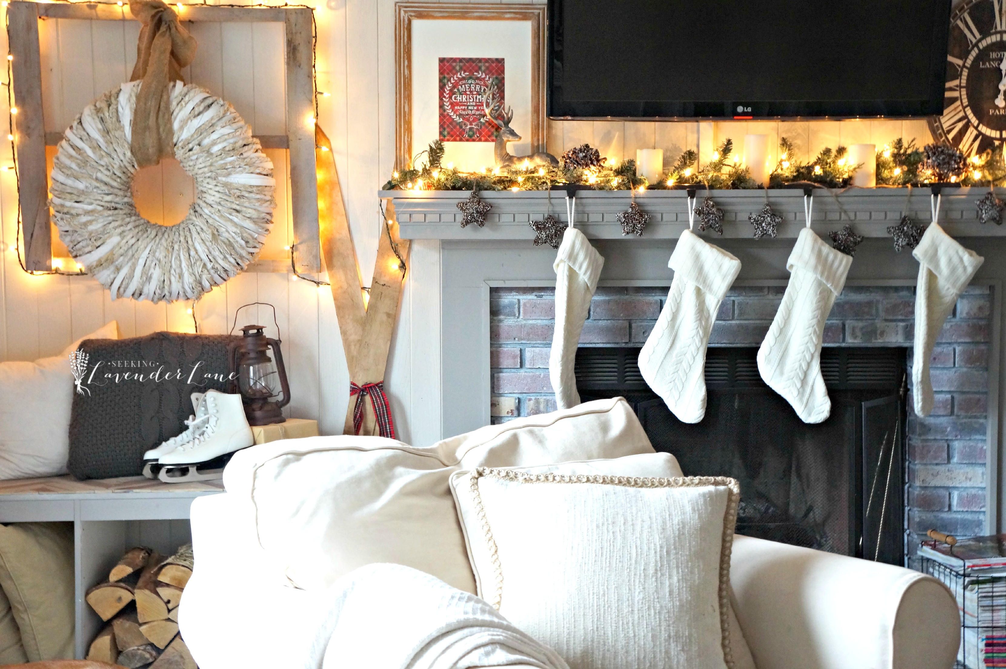 Farmhouse Christmas Home Tour with Seeking Lavender Lane Seeking