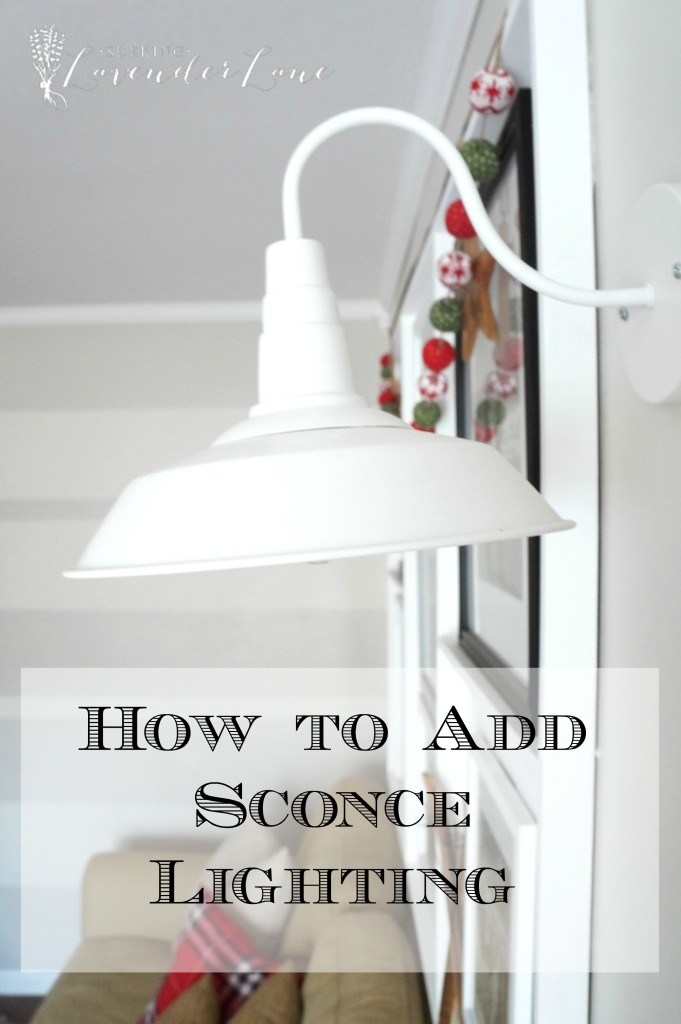 How to add sconce lighting logo