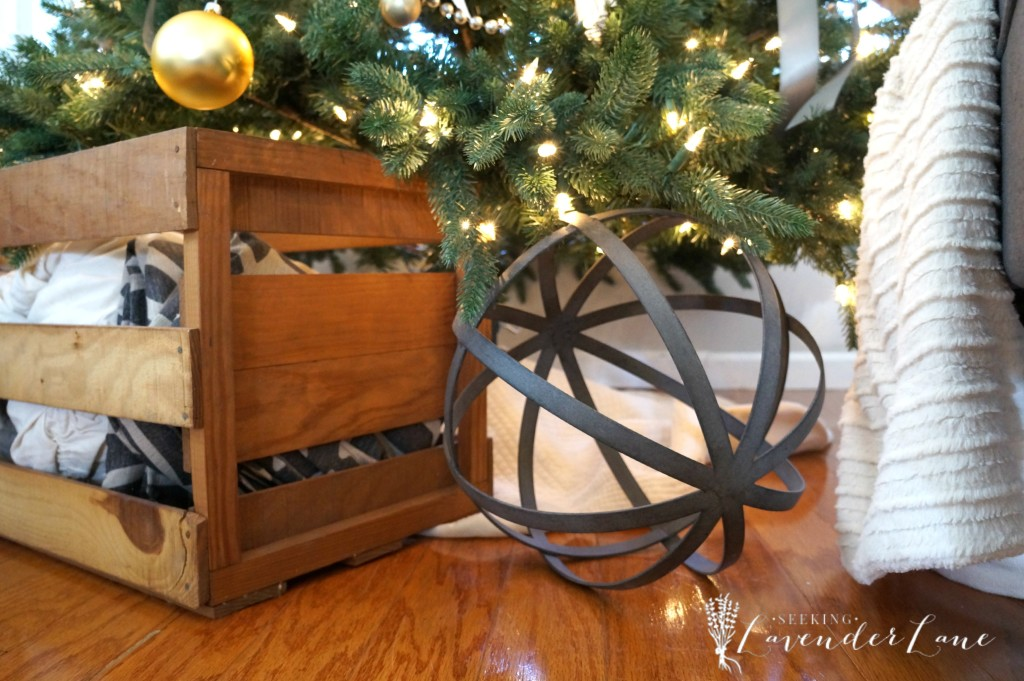 Orb and crate under the tree