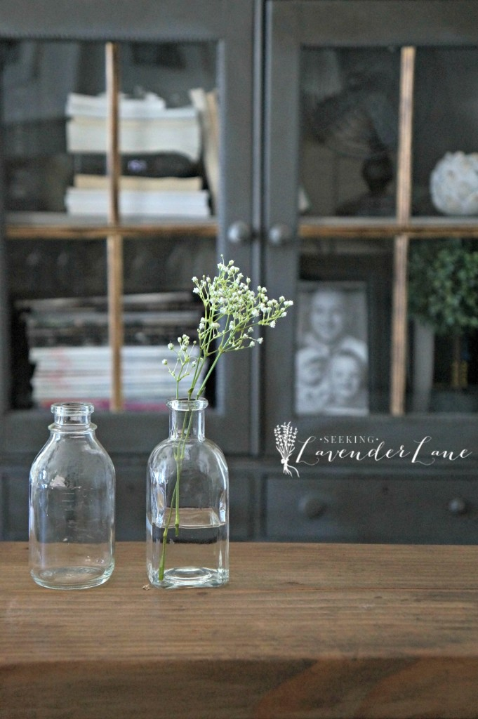 Baby's Breath in Jars Family Room Makeover