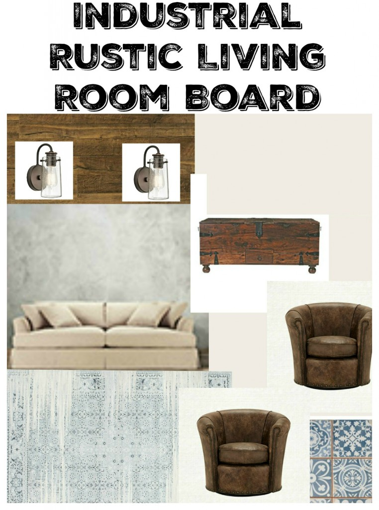 Industiral Rustic Living Room Board
