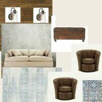 Industrial Rustic Living Room Board